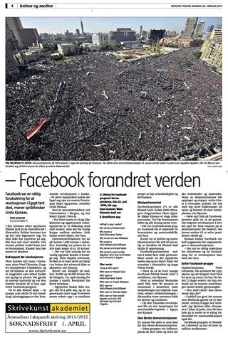 Faksimile frå Bergens Tidende, 28. februar 2011.