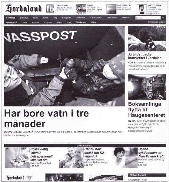 Figur 2: Faksimile av websida til Hordaland, 3. desember 2013.